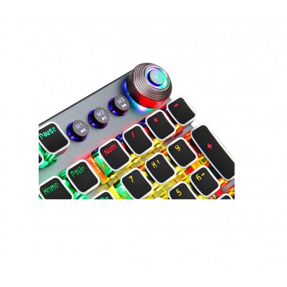 AULA F2088 programmable professional gamer keyboard - mechanical keys, brown-switch 108 keys, RGB LED lighting, wired connection