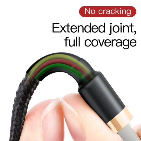 Baseus premium Apple cable - 2 meter, 1.5 Amp charging, beaded cover - Black