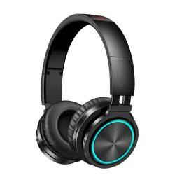 BlitzWolf® AIRAUX AA-ER1 bluetooth V5.0 Graphene Headphone with Breathing Light 40mm Dynamic Driver Foldable Over-Ear Gaming Headset - Black