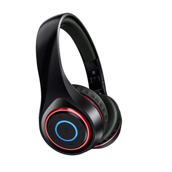 BlitzWolf® AIRAUX AA-ER2 bluetooth V5.0 Graphene Headphone with Breathing Light 40mm Dynamic Driver Foldable Over-Ear Gaming Headset - Black