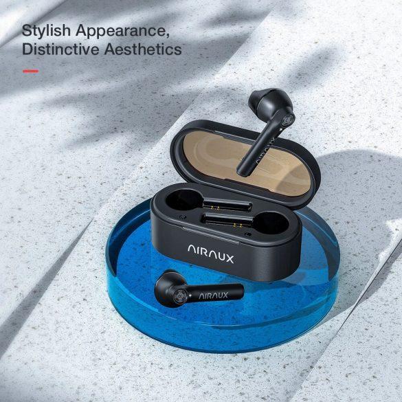 BlitzWolf® AirAux AA-UM7 Half in-ear earbuds - HiFi Stereo Bass, bluetooth 5.0, Touch Control, IPX5 - Black