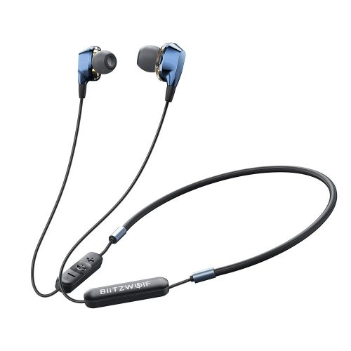 Blitzwolf® BW-BTS4 IPX5 Waterproof Bluetooth Sports Magnetic Headset with Microphone in Aluminum Housing