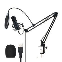 BlitzWolf BW-CM2 - USB Condenser microphone + pop filter + microphone holder arm
