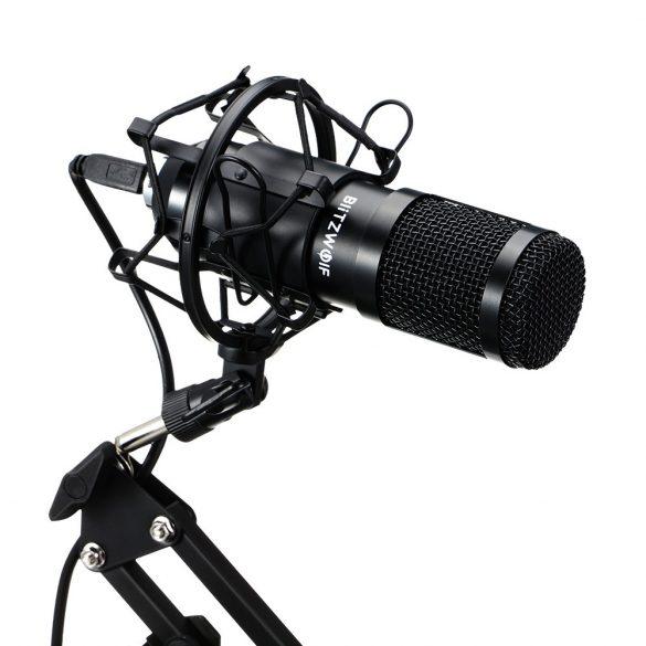 BlitzWolf BW-CM2 - USB Condenser microphone + pop filter + microphone holder arm