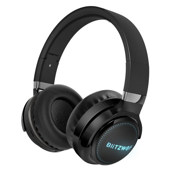 BlitzWolf® BW-HP0 Pro headphone - 42 hours play time, HiFi Sound System, RGB lighting