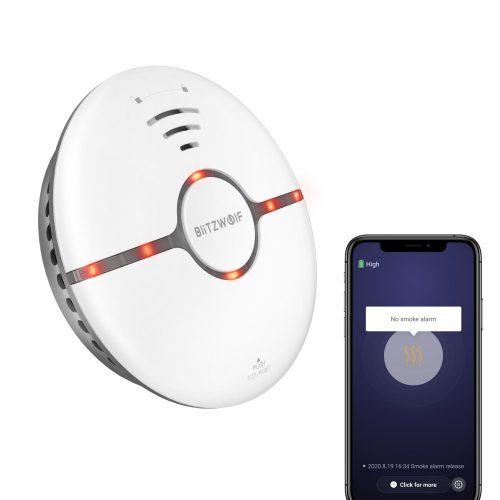 Blitzwolf® BW-IS7 Smart Smoke Detector - ≥85dB alarm, App alarm, for 30㎡ area