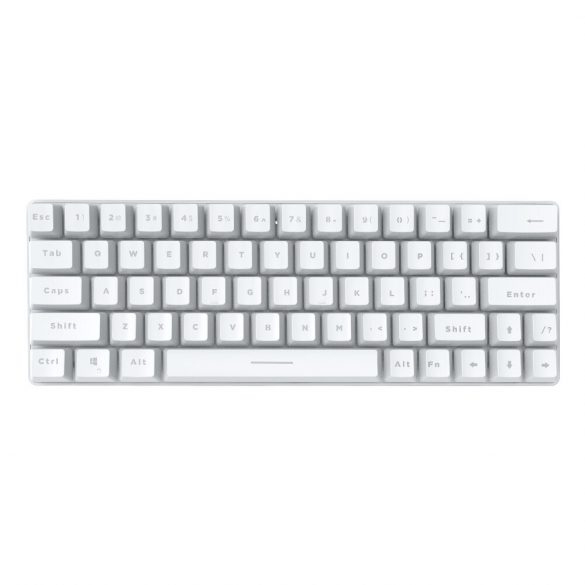 BlitzWolf BW-KB1 Gamer Keyboard - Mechanical Keys, RGB LED Lighting, Wired and Wireless, IPX4 - white