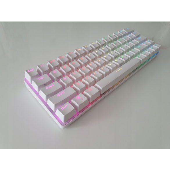 BlitzWolf BW-KB1 Gamer Keyboard - Mechanical Keys, RGB LED Lighting, Wired and Wireless, IPX4 - white