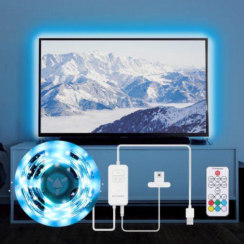 BlitzWolf® BW-LT32 - 2M USB RGB TV Strip Light Kit