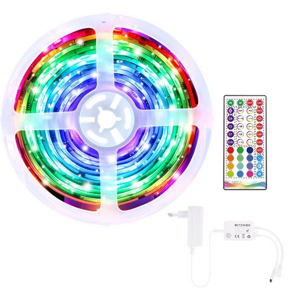 BlitzWolf® BW-LT33 smart LED strip - 5m long, App and IR remote control, music mode, various light effects