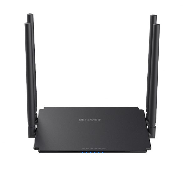 BlitzWolf BW-NET1 2.4G+5G Dual Band Router & Repeater- 1200Mbps,  4 x 5dBi antenna