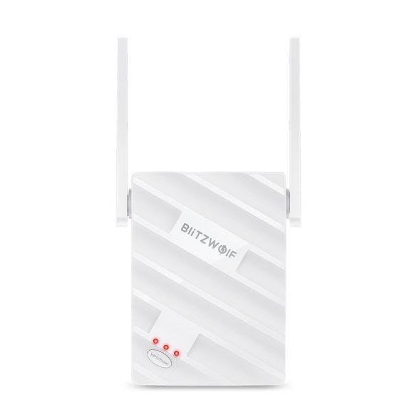 BlitzWolf®BW-NET3 - 2.4G + 5G Dual Band WiFi repeater; Range: 1200m; 2x3.5dBi antenna, 1167 Mbps