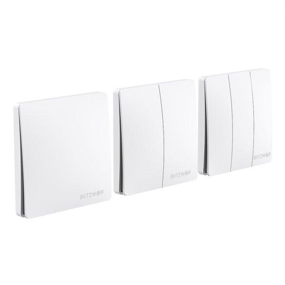 Intelligent wall switch - BlitzWolf® BW-SS2 RF 433Mhz intelligent wall switch - with kinetic energy (no battery required)