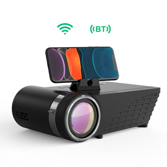 Home Cinema Projector - BlitzWolf® BW-VP8 with Phone Screen Mirroring, Wireless Connection, 720P Resolution, 5500 Lumens, Multiple Ports and Dolby Audio