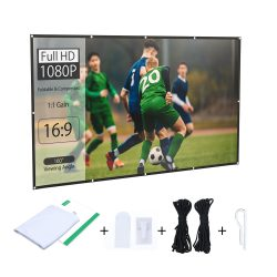 BlitzWolf® BW-VS2 Portable Projector Screen for  120 inch, 16: 9 projection