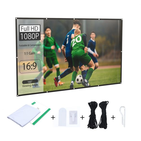 BlitzWolf® BW-VS2 Portable Projector Screen for  80-inch, 16: 9 projection