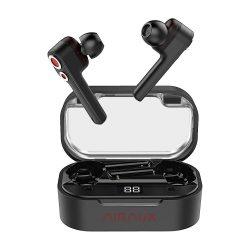 BlitzWolf® AirAux AA-UM6 TWS bluetooth 5.0 Earphone Dual Dynamic Drivers IPX5, Touch Control Type-C charge - Black