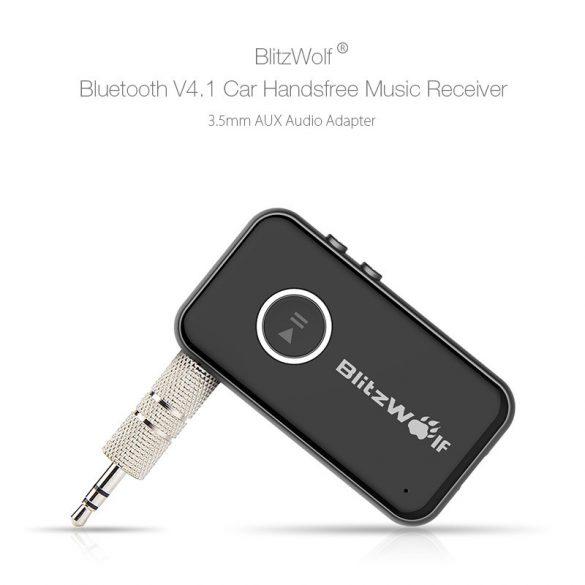 Car bluetooth V5.0 FM Transmitter BlitzWolf®BW-BC1 Car bluetooth V5.0 FM Transmitter DC 12/24V Input with QC3.0 + USB Ports, RGB Lights, bluetooth & TF & USB Play, FM Transmitter, Car Battery Voltage
