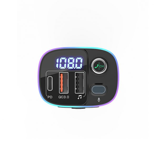 Car bluetooth V5.0 FM Transmitter BlitzWolf®BW-BC2 Car bluetooth V5.0 FM Transmitter DC 12/24V Input with QC3.0 + USB Ports, RGB Lights, bluetooth & TF & USB Play, FM Transmitter, Car Battery Voltage