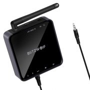 BlitzWolf® BW-BR4 Bluetooth V5.0 aptX HD Music Receiver Transmitter 3.5mm AUX SPDIF RCA Audio 2 in 1 Adapter