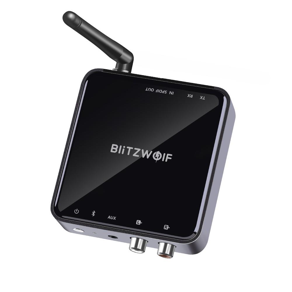 BlitzWolf® BW-BR4 Bluetooth V5 0 aptX HD Music Receiver Transmitter 3 5mm  AUX SPDIF RCA Audio 2 in 1 Adapter