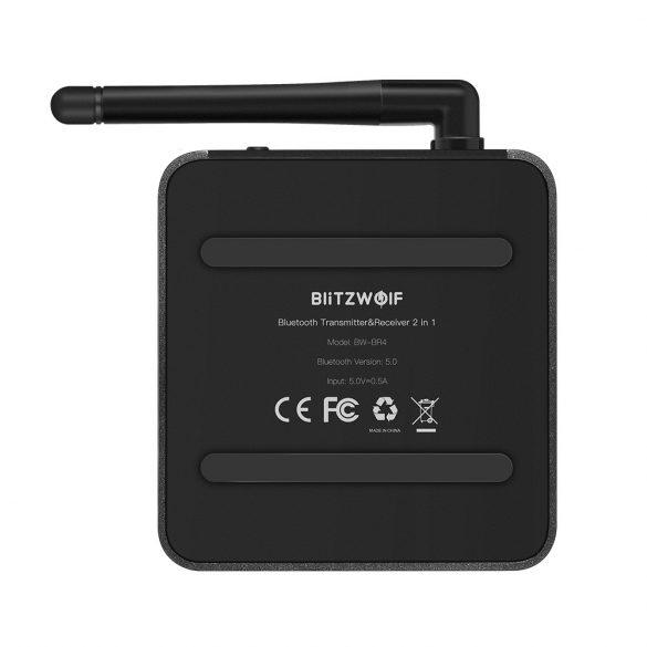 BlitzWolf® BW-BR4 Bluetooth V5.0 aptX HD Music Receiver Transmitter 3.5mm AUX SPDIF RCA Audio 2 in 1 Adapter