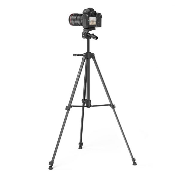 """Tripod for Cameras and Smartphones BlitzWolf® BW-BS0 Pro with Stable Tripod, Removable 1/4"""" Plate, Adjustable Height, Broad Compatibility, Remote Control"""
