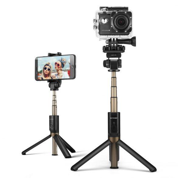BlitzWolf BW-BS3 sport Extendable Selfie Stick Tripod with Wireless Remote