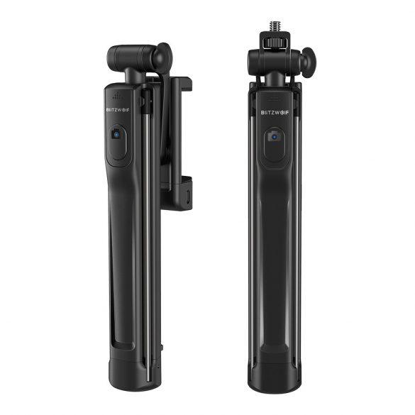 Tripod Selfie Stick with Fill Light - BlitzWolf® BW-BS8 Tripod Selfie Stick with Fill Light with Three Brightness Levels, Stylish Design, Burst Flashing and Removable Bluetooth Control
