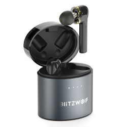 TWS Long Handle BlitzWolf® BW-FYE8 bluetooth V5.0 Truly Wireless Earbuds with Digital Power Display, Graphene Diaphragm, Tap Control, IPX5, Type-C Charging Port
