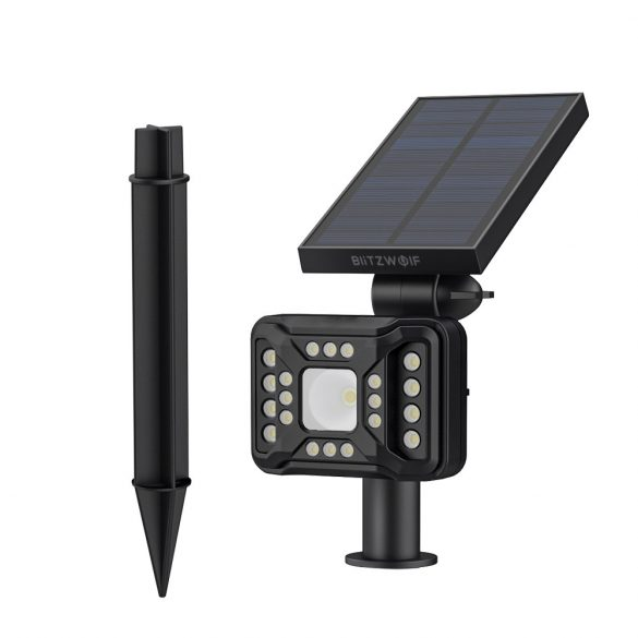 Outdoor Solar Lamp - BlitzWolf BW-OLT2 with Motion Detector, IP44 Water Resistant