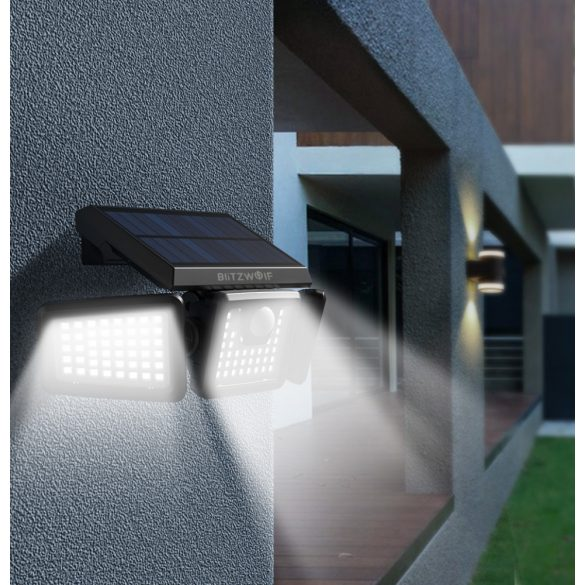 Outdoor Solar Lamp - BlitzWolf BW-OLT1 with Motion Detector, IP64 Water Resistant