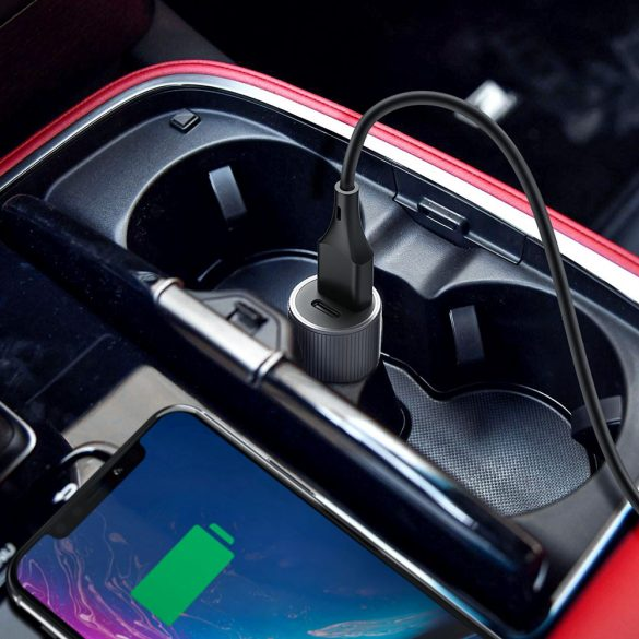 36W QC3.0 + Type-C USB Car Charger - BlitzWolf® BW-SD4 36W QC3.0 PD2.0 Type-C + USB Ports Mini Car Charger with Fast Charging Speed, Compact Design, Stylish Look, Tough Material and Safety Protection