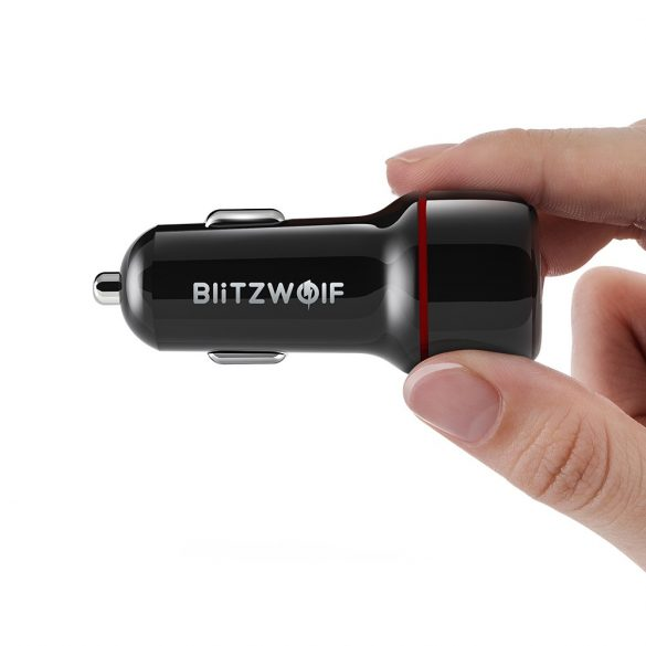 BlitzWolf® BW-SD5 Car Charger 25W 2xQ3.0 with fast charging technology, LED lighting