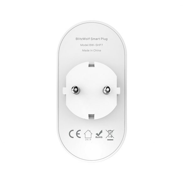 3840W EU WIFI double Smart Socket - BlitzWolf® BW-SHP7 - can integrate with Amazon Echo, Google Home and IFTTT.