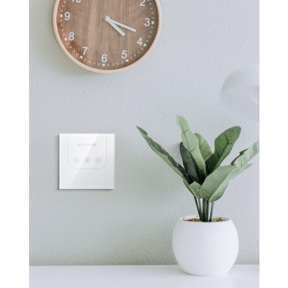 Smart Wall Switch - BlitzWolf® BW-SS3 can integrate with Amazon Echo, Google Home and IFTTT.