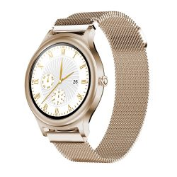 BlitzWolf BW-AH1 gold - women's touch screen smart watch - gold color