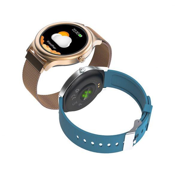 BlitzWolf BW-AH1 gold - women's touch screen smart watch - gold color