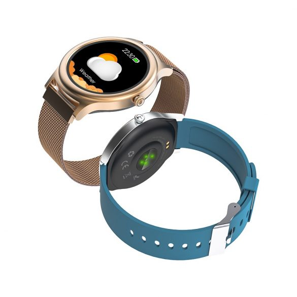 BlitzWolf BW-AH1 silver - women's touch screen smart watch - silver colors