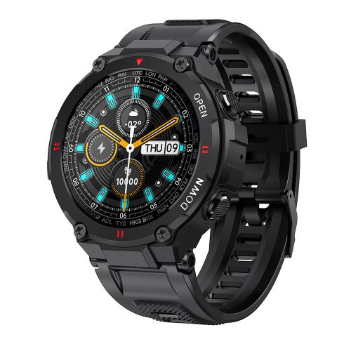 """Blitzwolf® BW-AT2 Black Sport Smart Watch - 10-15 days battery time, 1.3"""" IPS display, countless built-in features"""