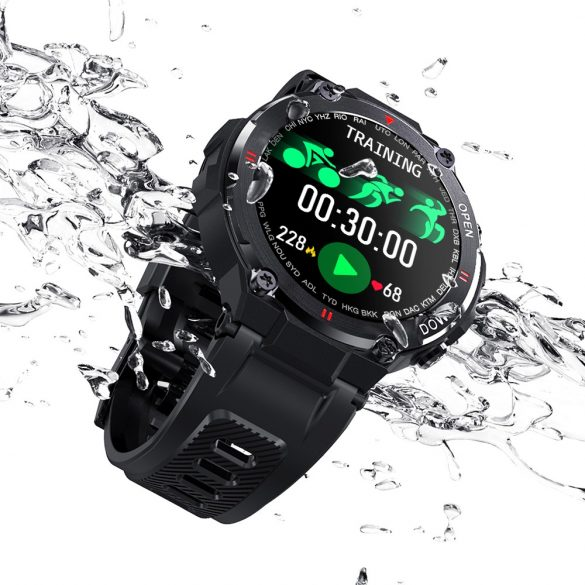 """Blitzwolf® BW-AT2 Green Sport Smart Watch - 10-15 days battery time, 1.3"""" IPS display, countless built-in features"""