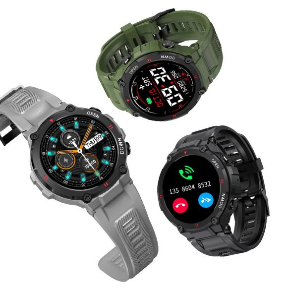 Blitzwolf® BW-AT2C (Black) Smart watch with built-in microphone and speaker with countless activity mode functions