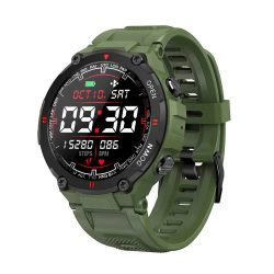 Blitzwolf® BW-AT2C (Green) Smart watch with built-in microphone and speaker with countless activity mode functions