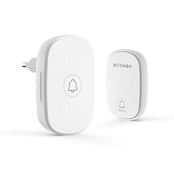 Wireless doorbell with kinetic energy - BlitzWolf® BW-DB1 - 38 ringtones, 4 volumes, RF433Mhz