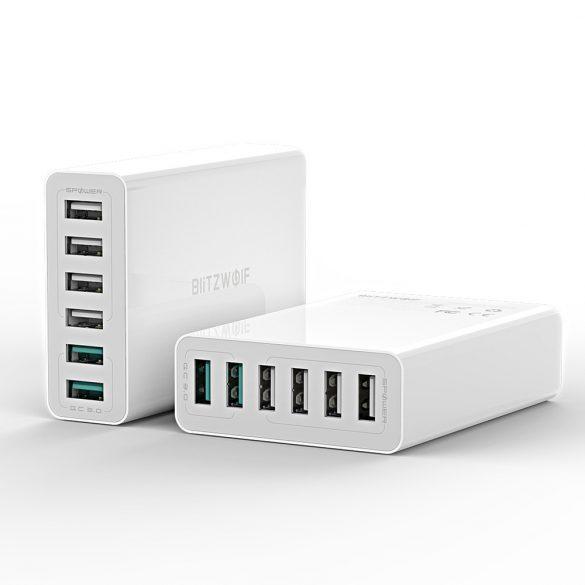 BlitzWolf® BW-S15 QC3.0,  60W Smart 6-Ports High Speed Desktop USB Charger
