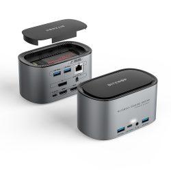 Blitzwolf BW-TH12 Hub 14 in one: SATA3.0, 4K HDMI, 4x USB 3.0 port, 3.5 Jack, port LAN