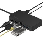 BlitzWolf® BW-TH7 7 in 1 Hub:  DC, USB, HDMI, Display, Jack, RJ45 ports