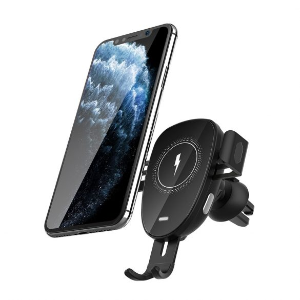 BlitzWolf® BW-CW2 - 15W wireless quick charger + car phone holder - for all phones that support wireless charging (QI standard)