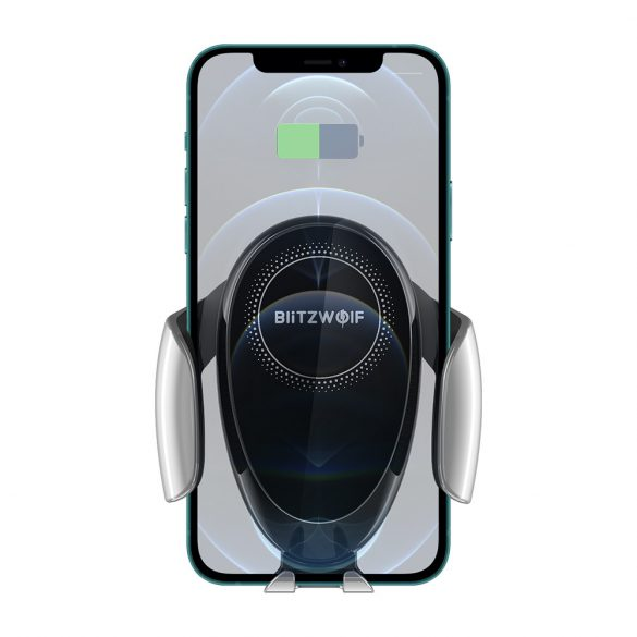 BlitzWolf® BW-CW3 - 15W wireless quick charger + car phone holder - for all phones that support wireless charging (QI standard)