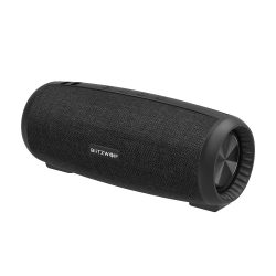 BlitzWolf® BW-WA1 12W Wireless bluetooth 5.0 Speaker Dual Passive Diaphragm TWS Stereo TF Card U Disk Speaker with Mic - Black